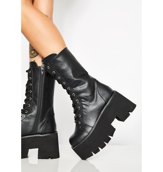 Demonia Sacred Ashes Platform Boots