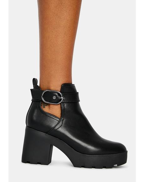 Hit The Streets Cutout Booties