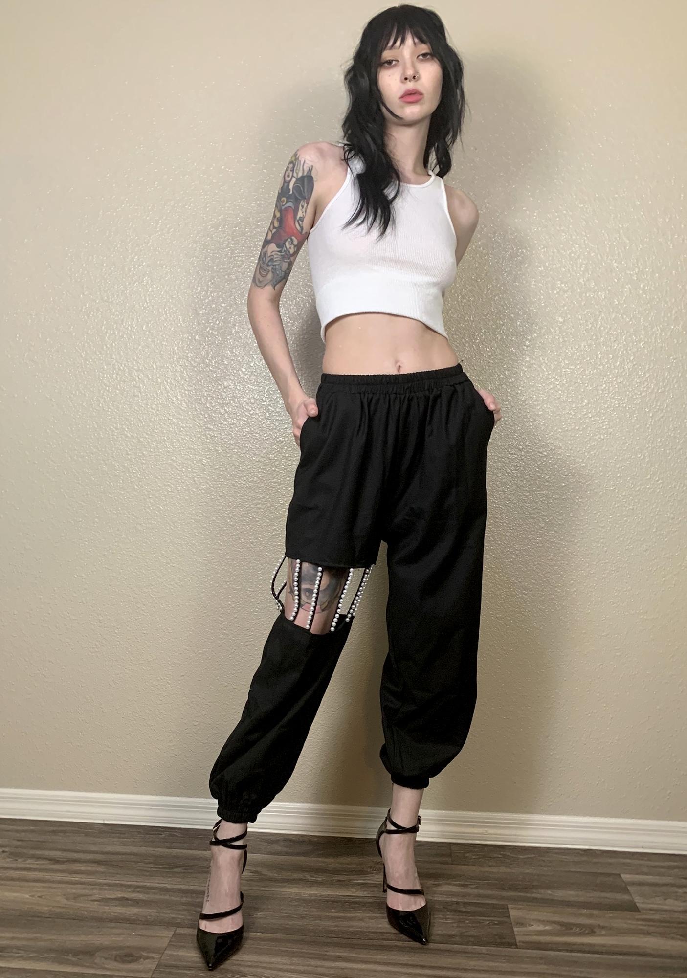 Marigold Shadows Mikiko Pearl High Waist Pants