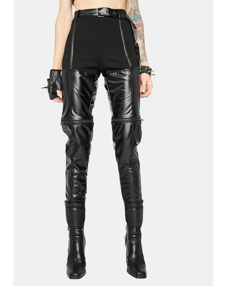 Brutal Babe Vegan Leather Skinny Pants