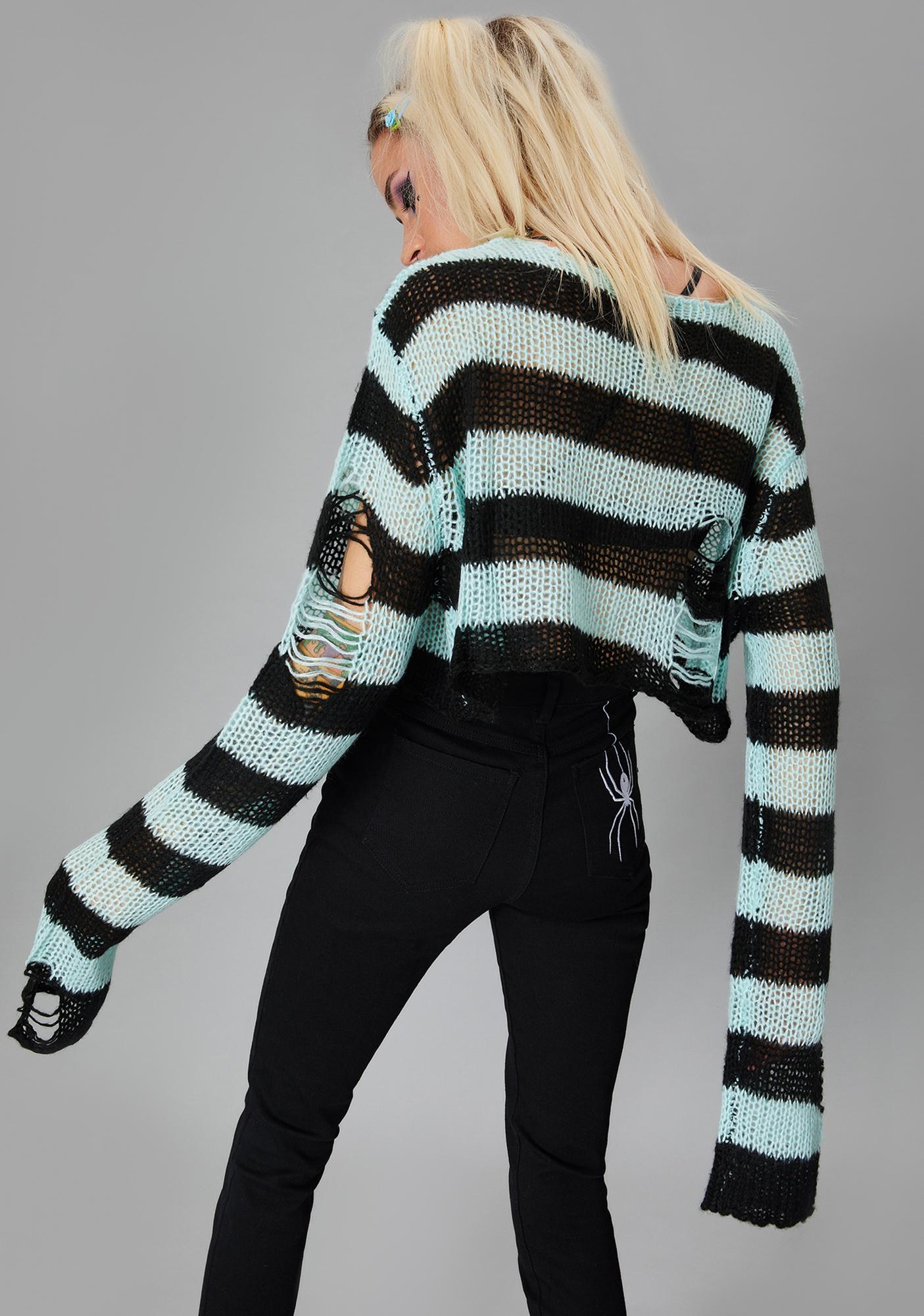 Widow Lush Super Creep Striped Sweater