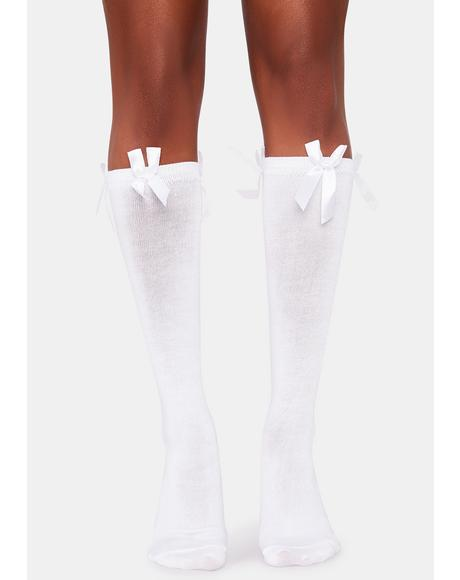Heaven's Baby Bow Knee Socks