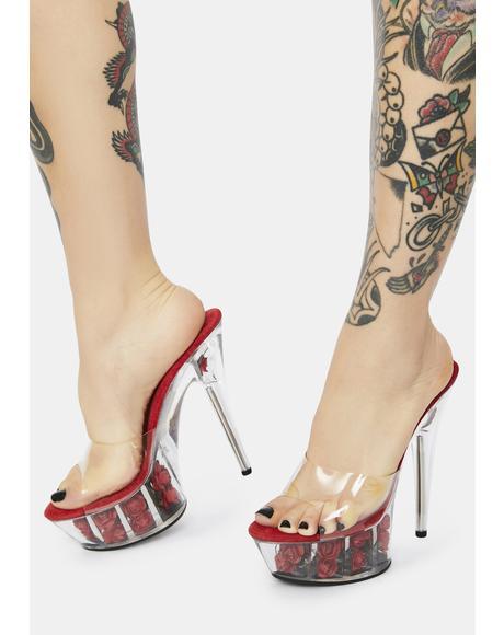 Fire Divine Desire Rose Platform Heels