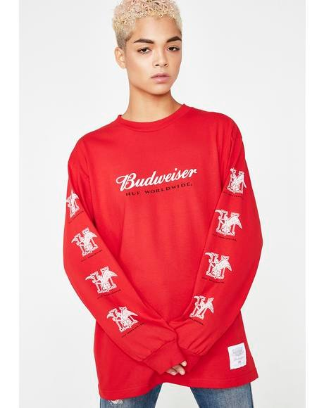 x Budweiser Eagle Long Sleeve Tee