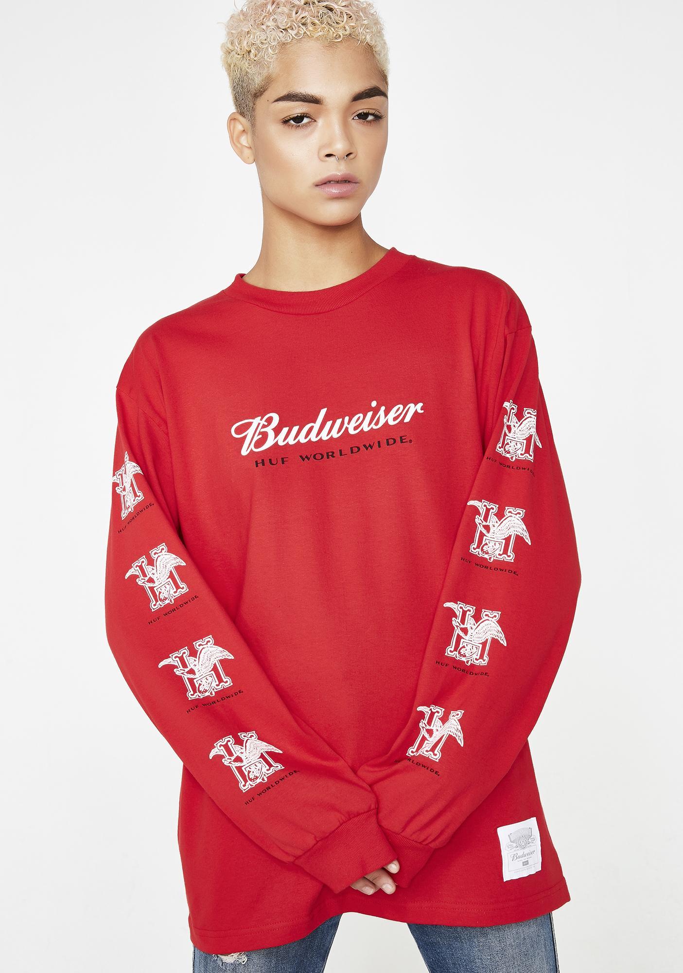 HUF x Budweiser Eagle Long Sleeve Tee