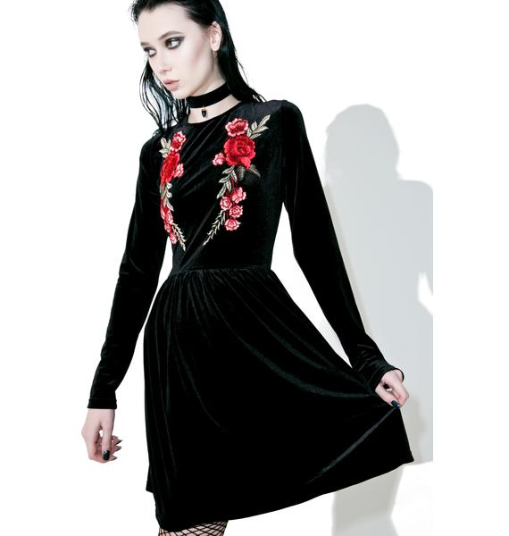 Glamorous Knight Floral Velvet Dress