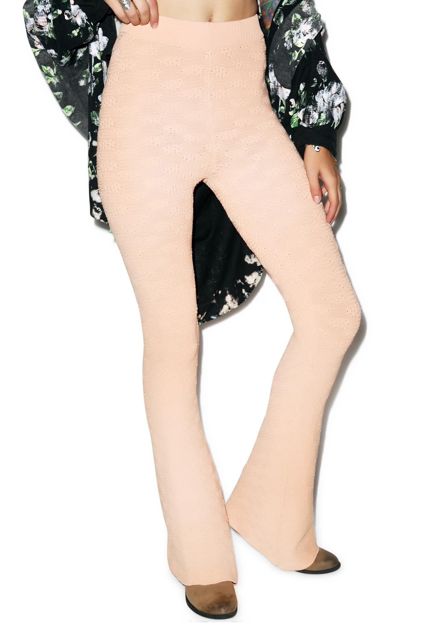 For Love & Lemons Camilla Knit Leggings