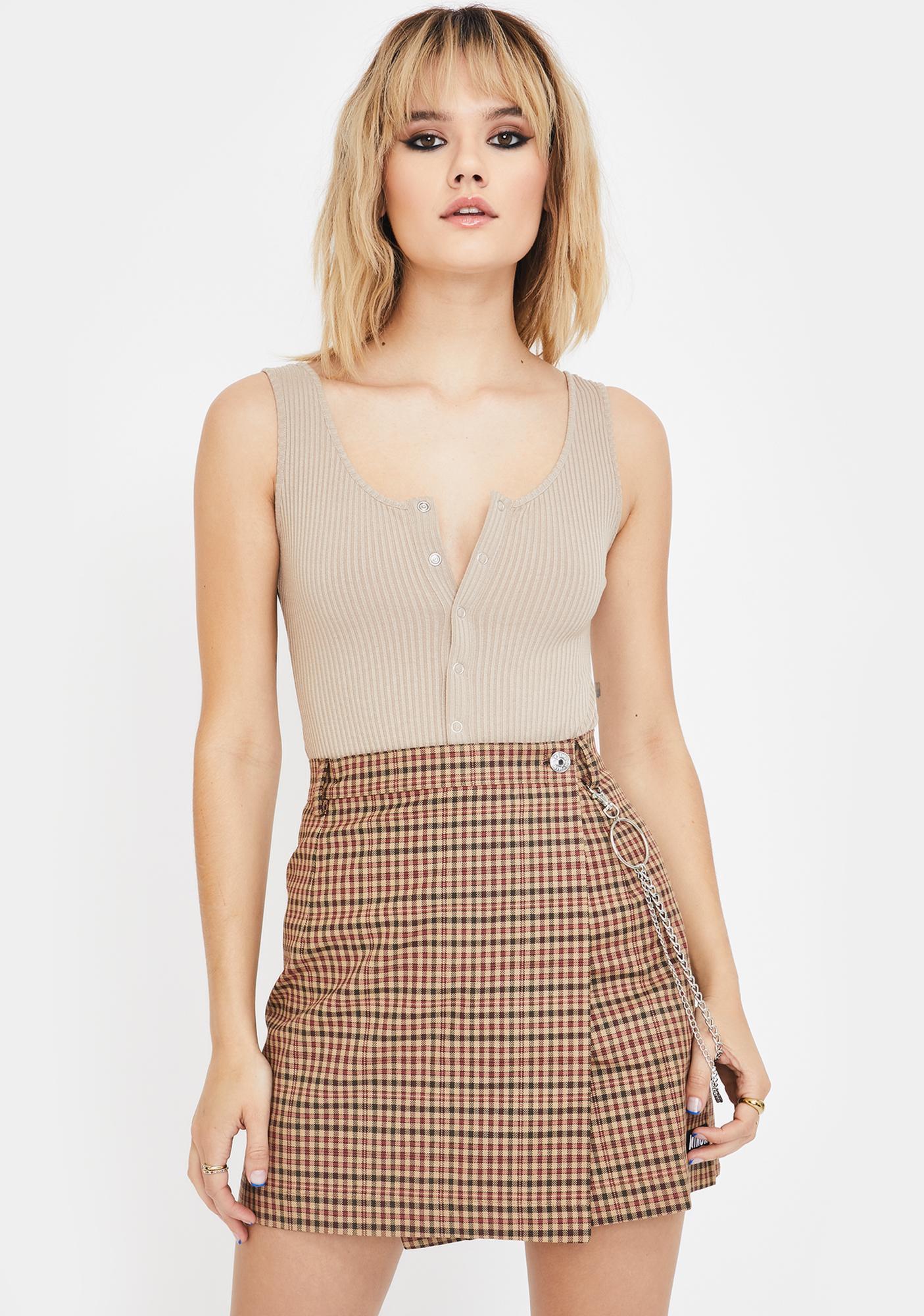 Minga Emily Plaid Skirt