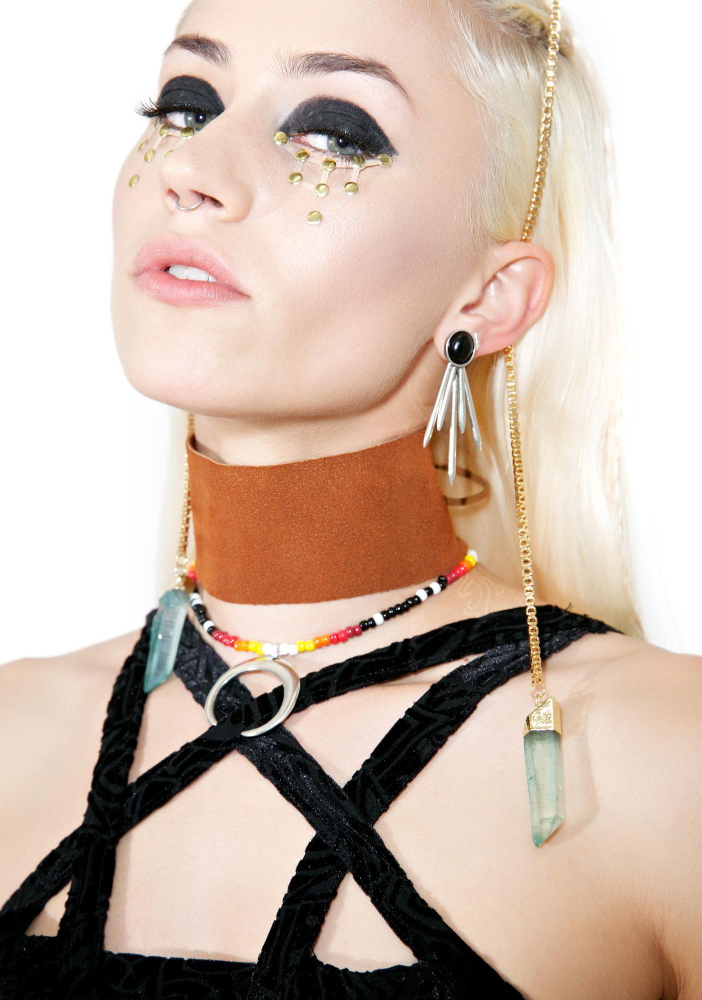 Clockwork Lace-Up Choker