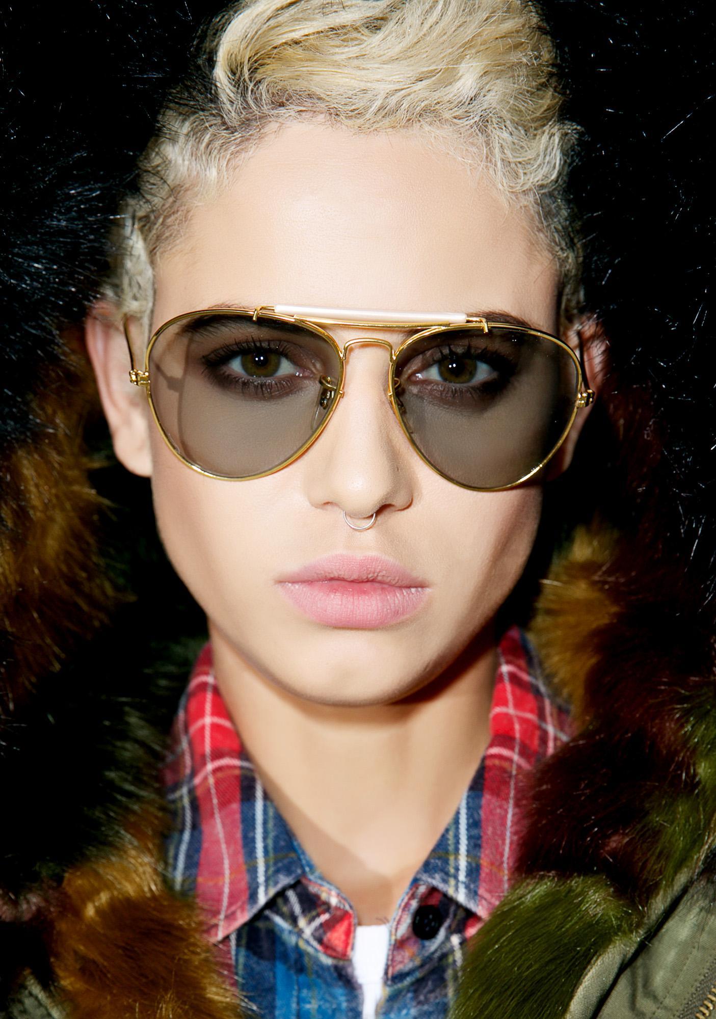 Gilded Napoleon Aviator Sunglasses