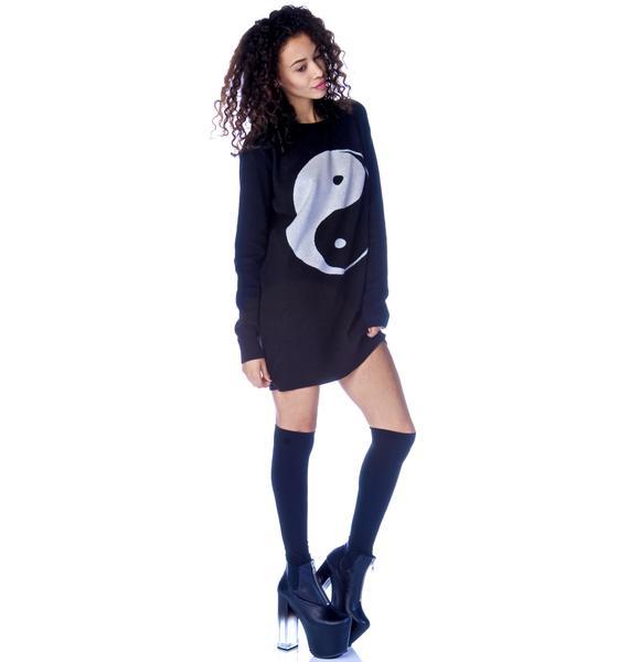 Yin Yang Sweater Dress