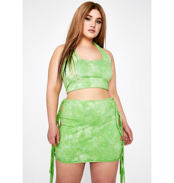 Club Exx Wild Cosmix Coast Tie Dye Skirt