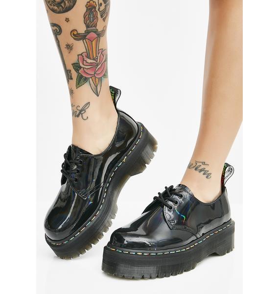 Dr. Martens 1461 Rainbow Patent Quad Shoes