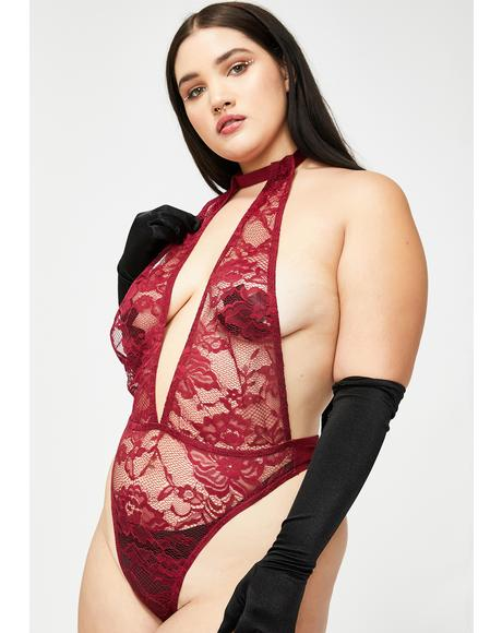 Lux Vino Last Time Lover Lace Bodysuit