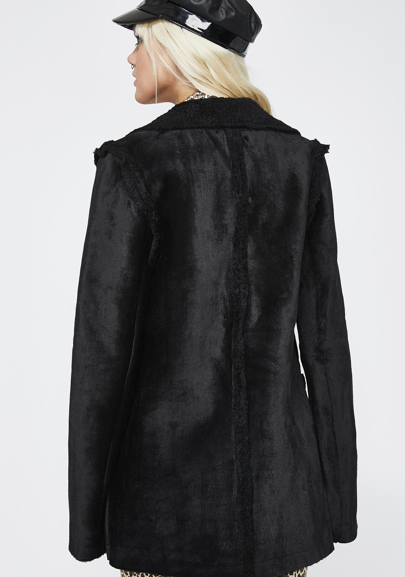Onyx Spirit Weaver Sherpa Coat