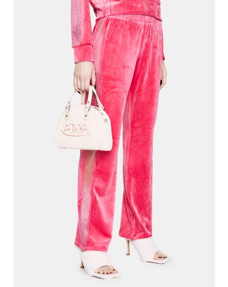 Pink Party Luxe Velour Sweatpants