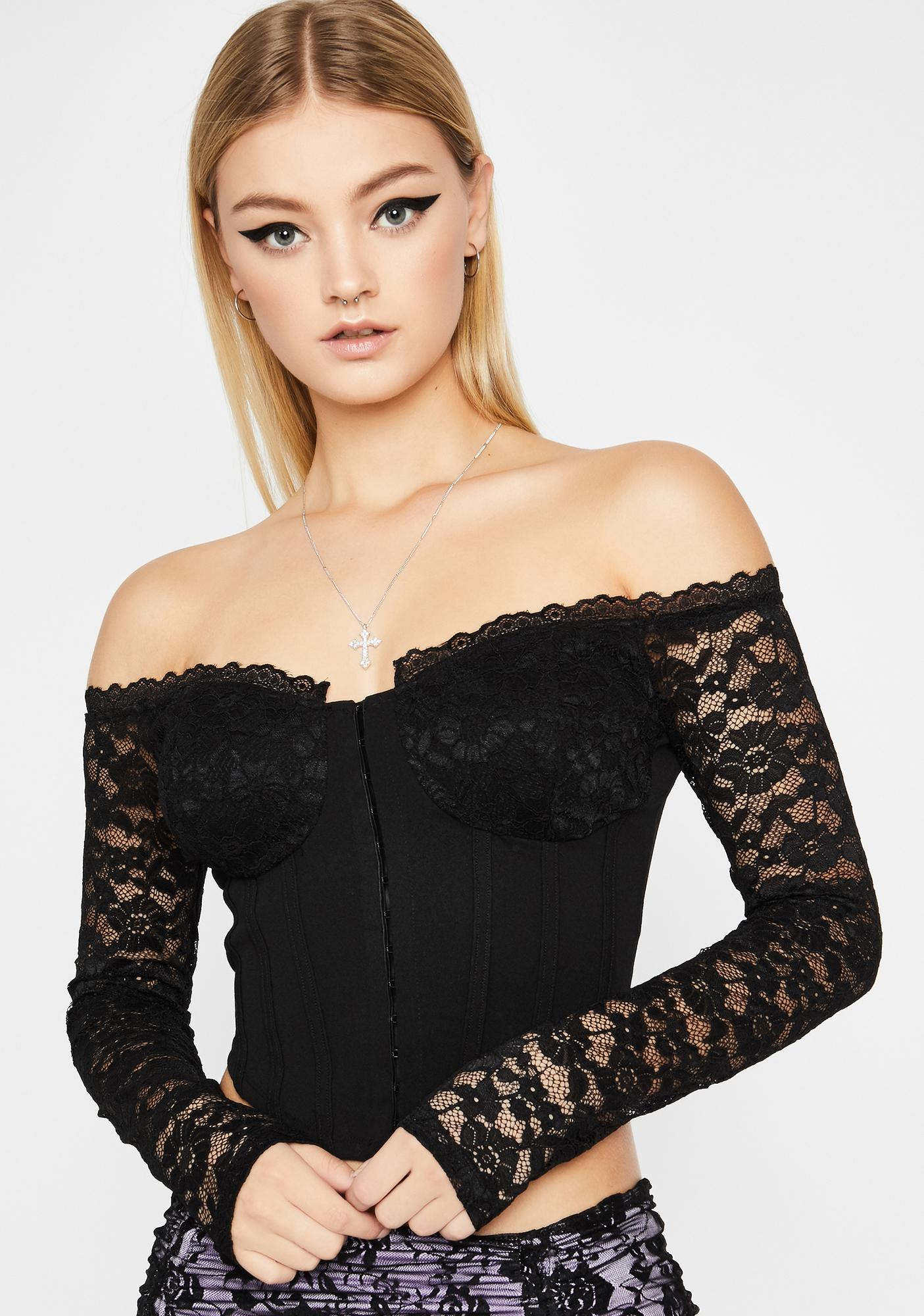 Sultry Invitation Lace Top