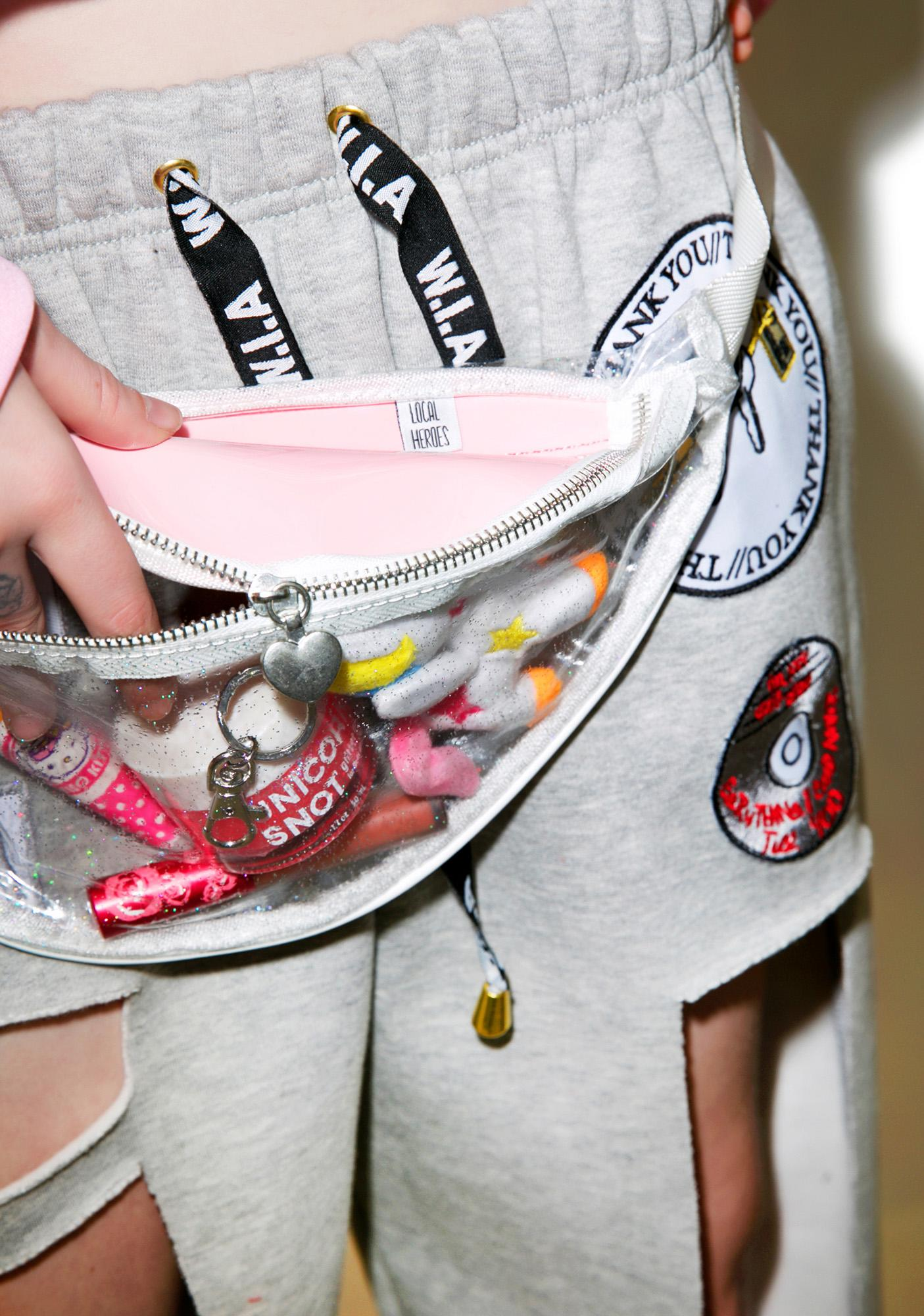 Local Heroes Pink Glittery Fanny Pack