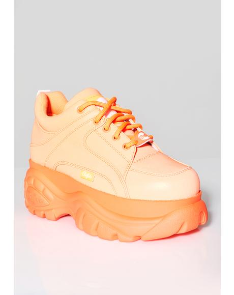 Juicy Classic Low Reflective Leather Sneakers