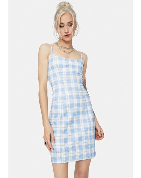 Cool My Own Motives Plaid Mini Dress