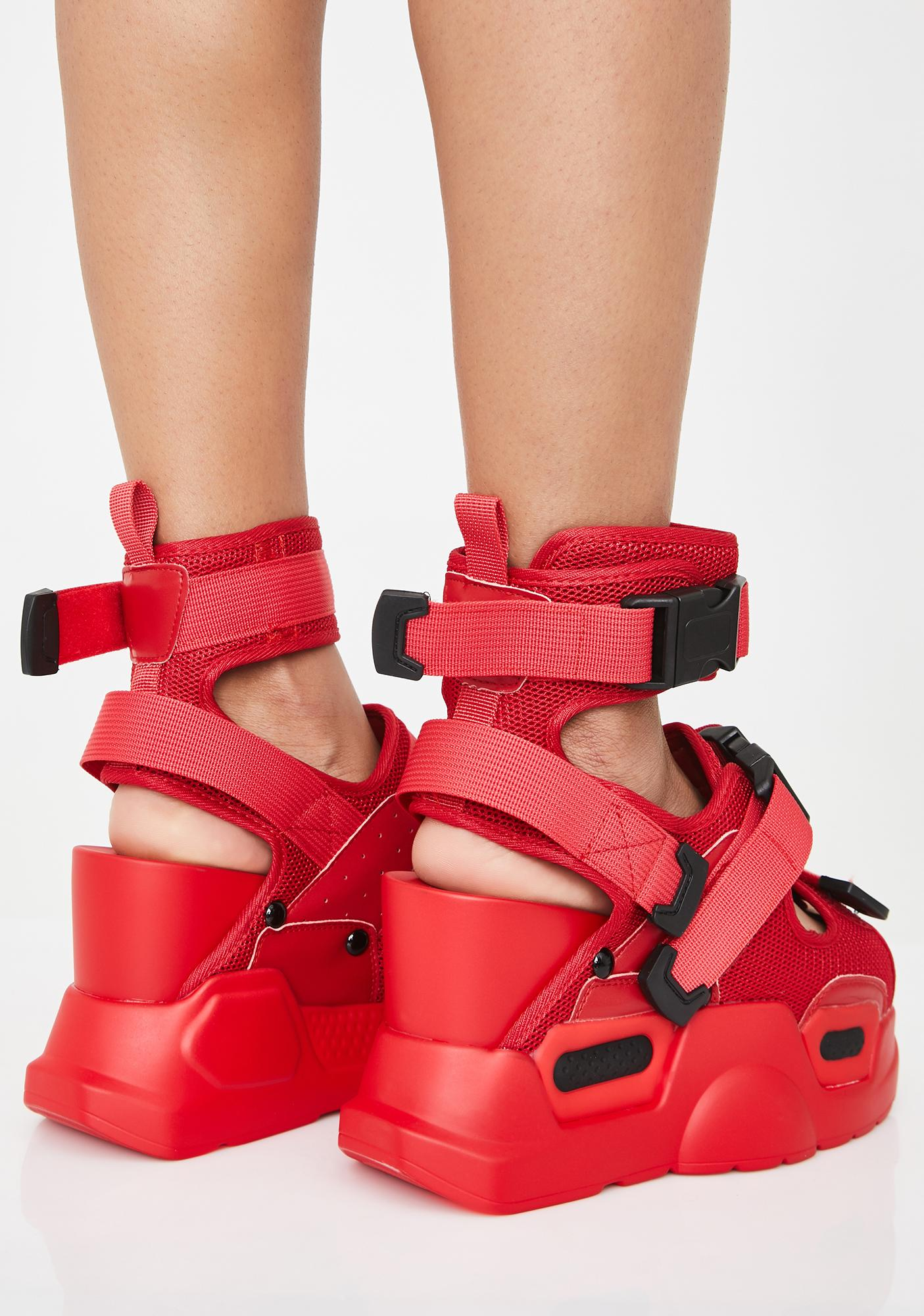 Anthony Wang Fire Daily Hustle Platform Sandals