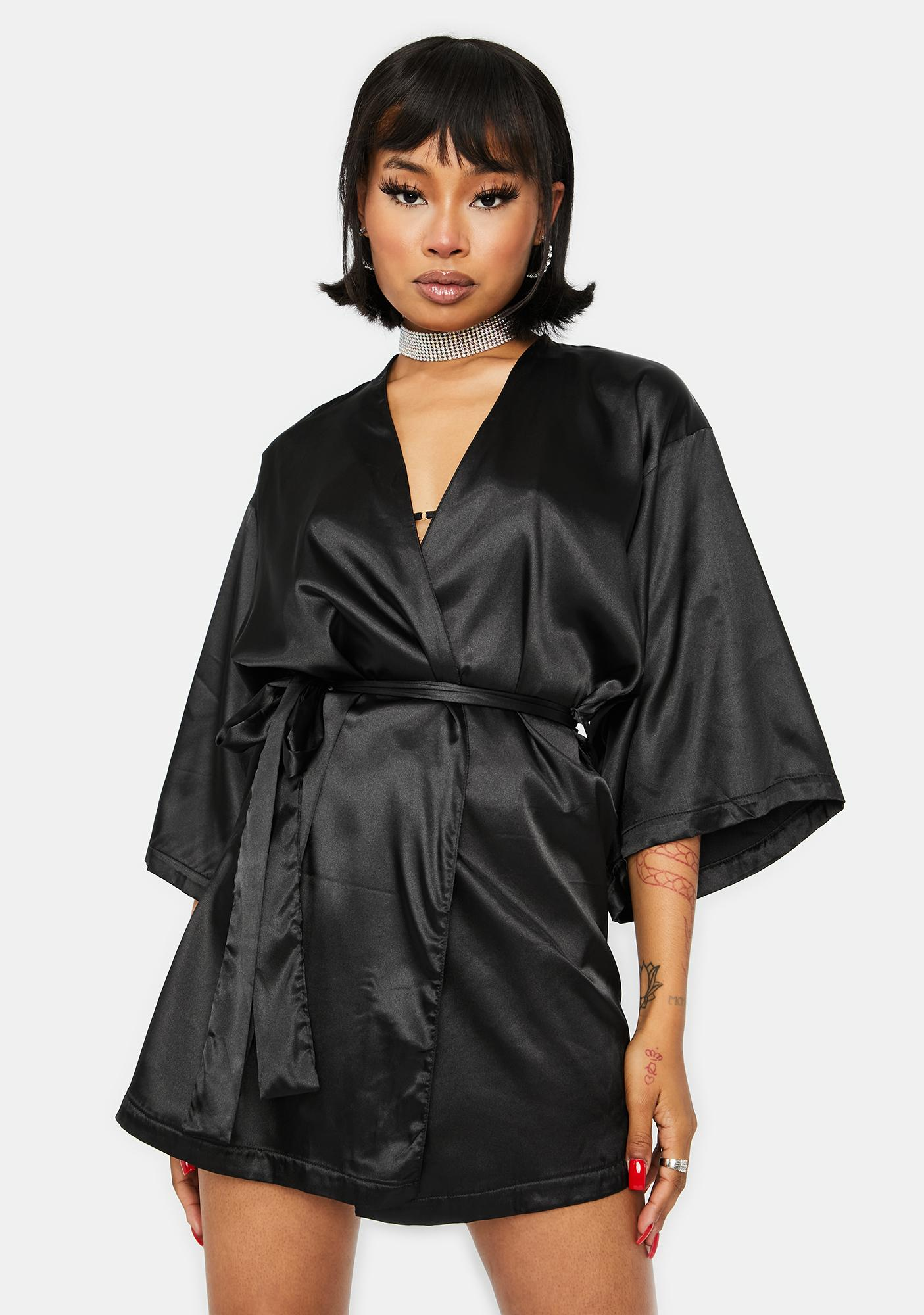 Rose in the Night Satin Robe