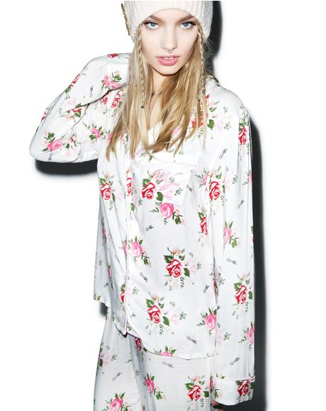Lover's Bouquet Classic Pajama Set