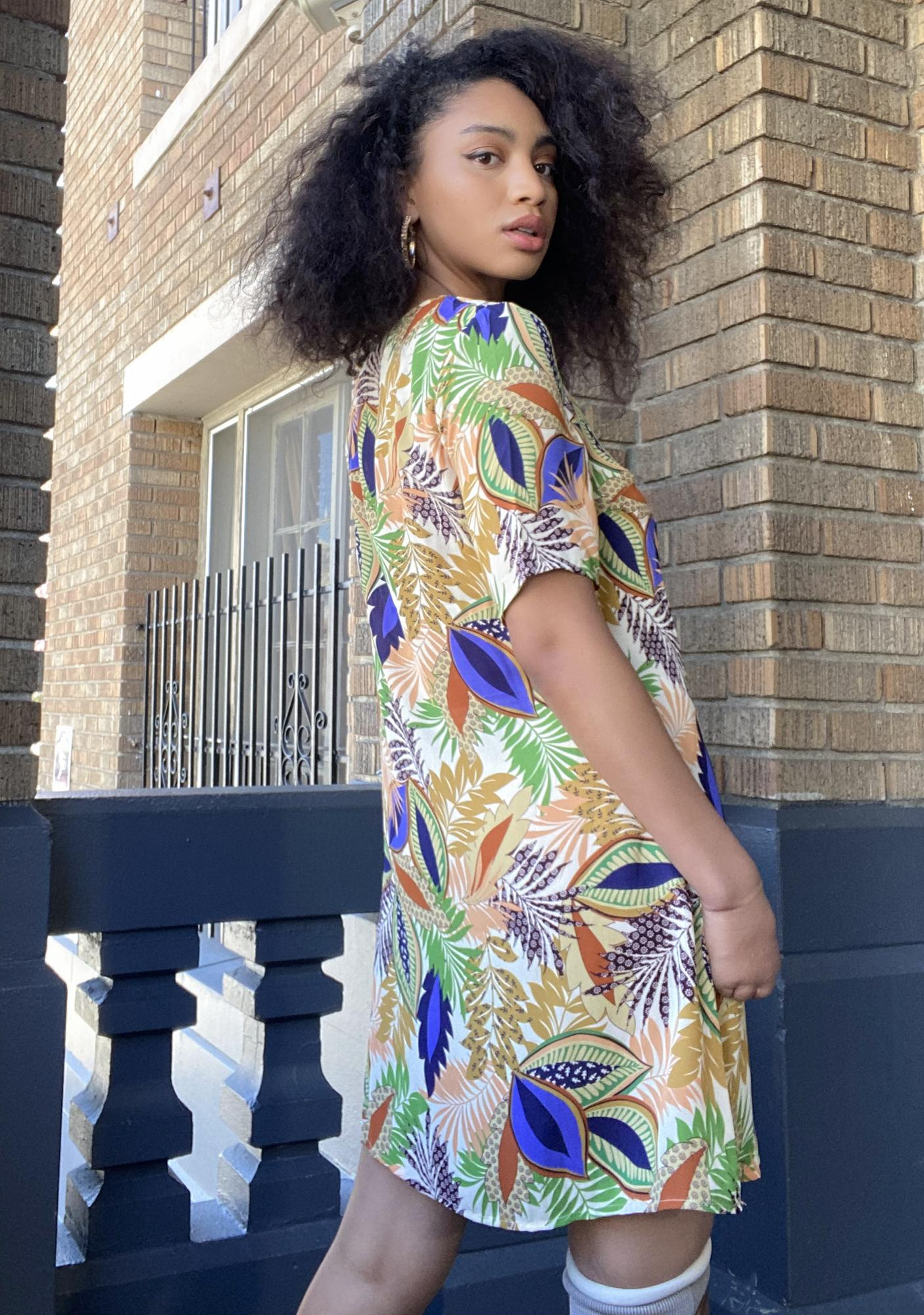 Glamorous Nature Print Shirt Dress