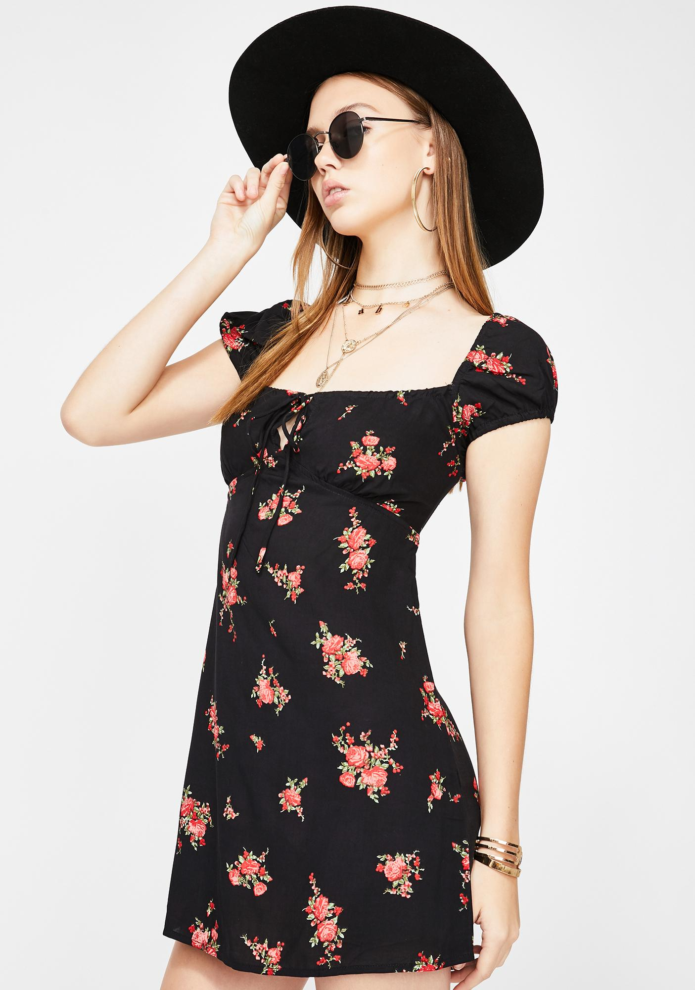 Motel Gavel Floral Mini Dress