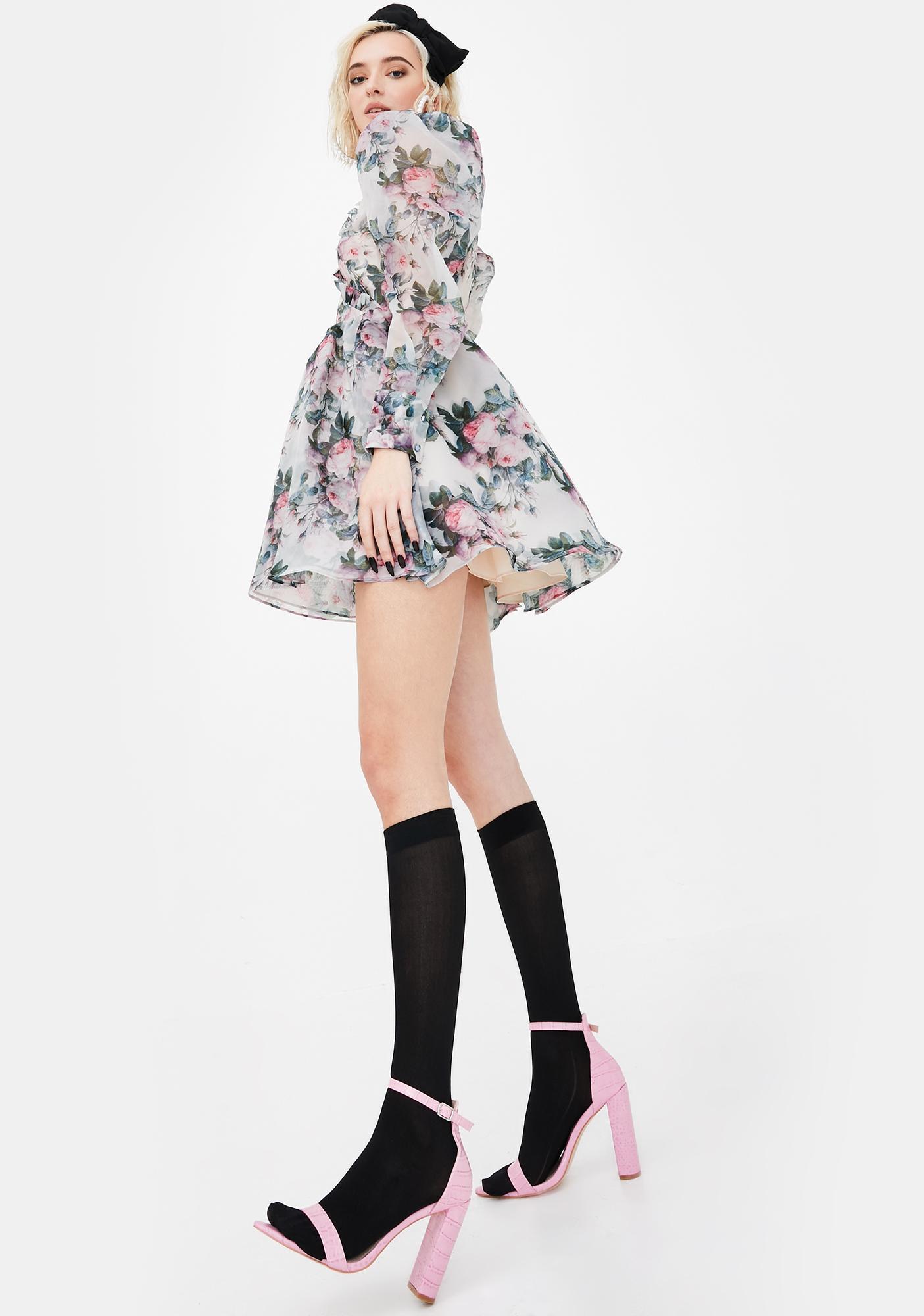 Selkie Garden Rose Puff Dress