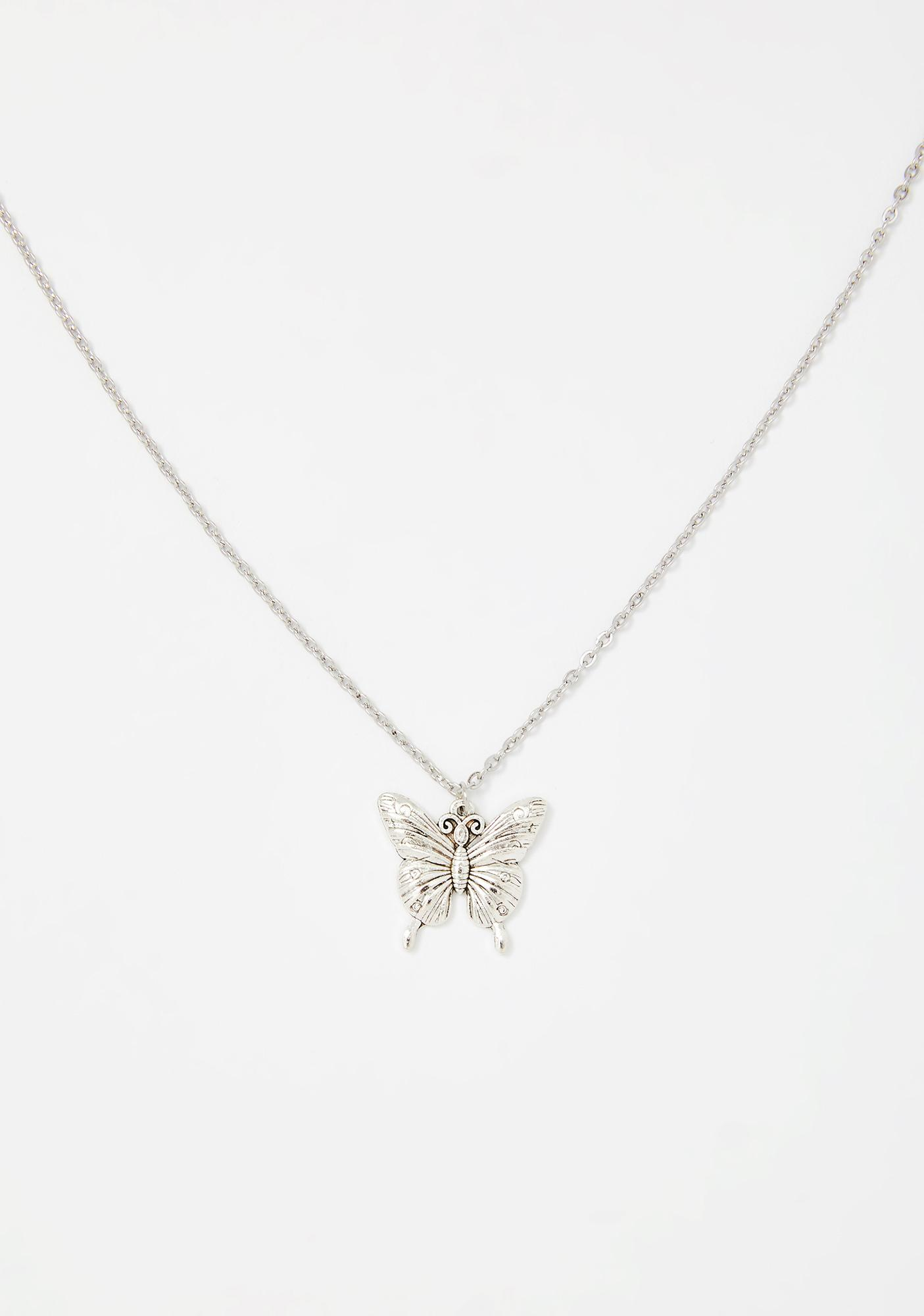 Come Away With Me Butterfly Necklace