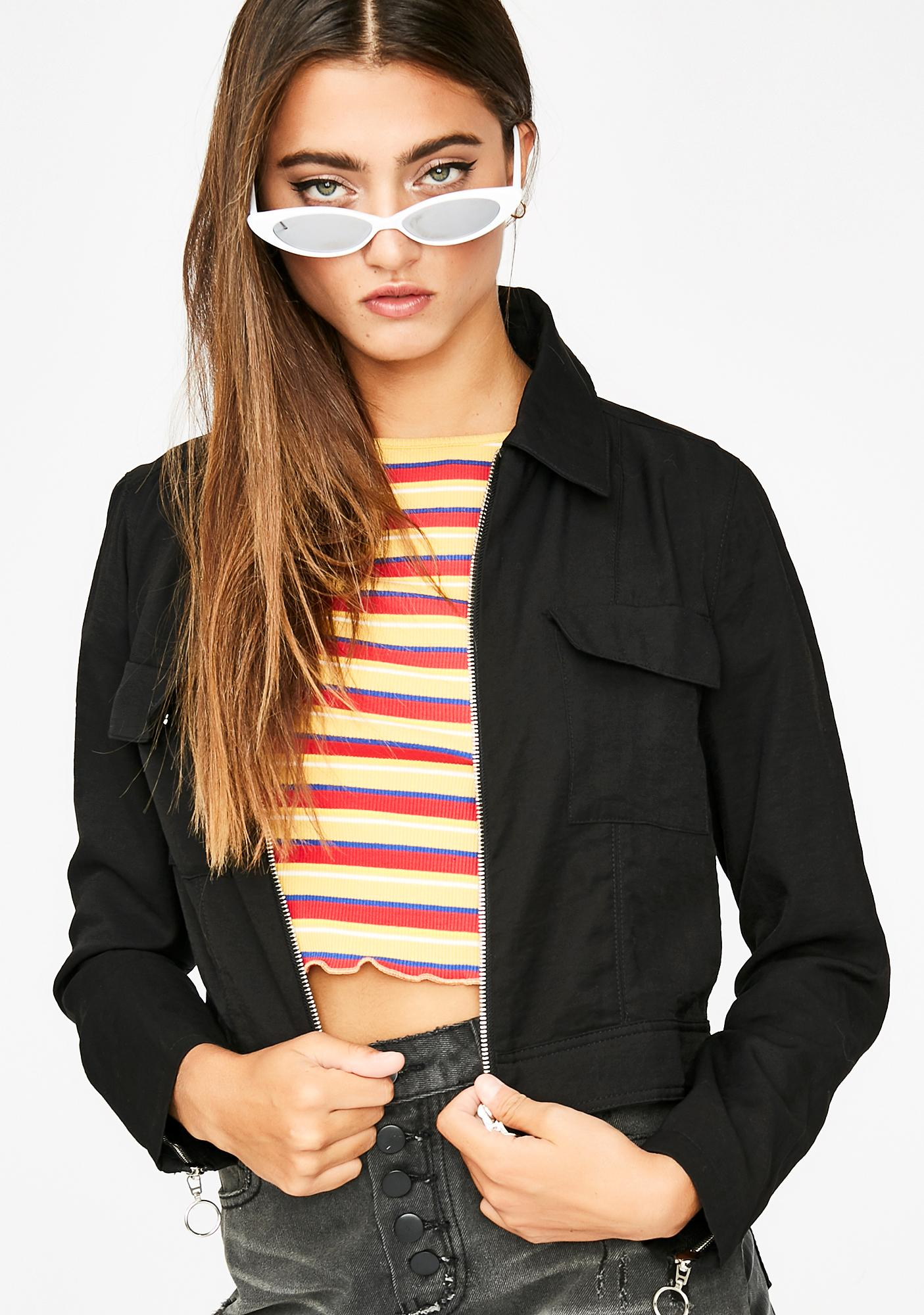 Past Tense Cropped Jacket