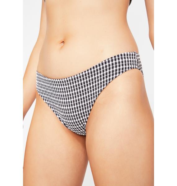 Lazy Oaf Cherry Gingham Bikini Bottoms