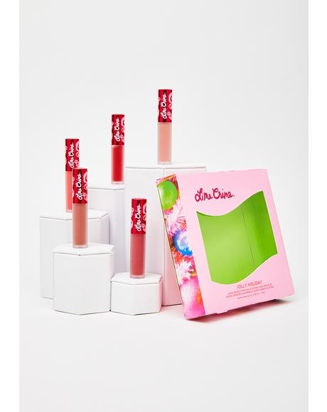 Jolly Holiday 5-Piece Mini Velvetines Set