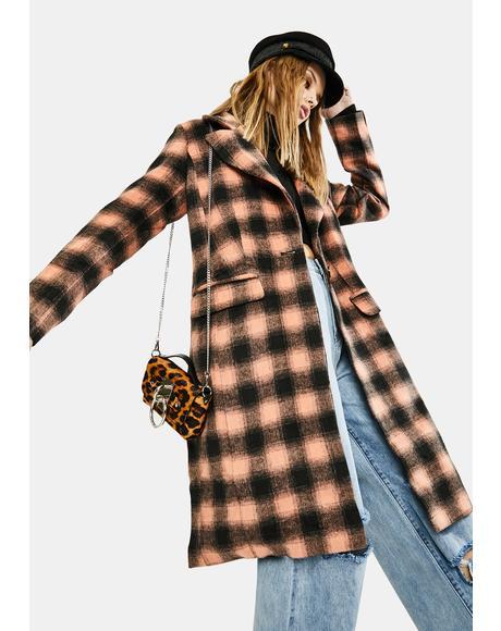 Belle Plaid Coat