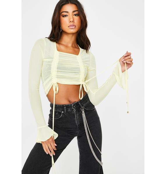 ZYA Yellow Libra Long Sleeve Top