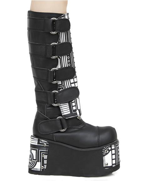Hackerz Platform Boots