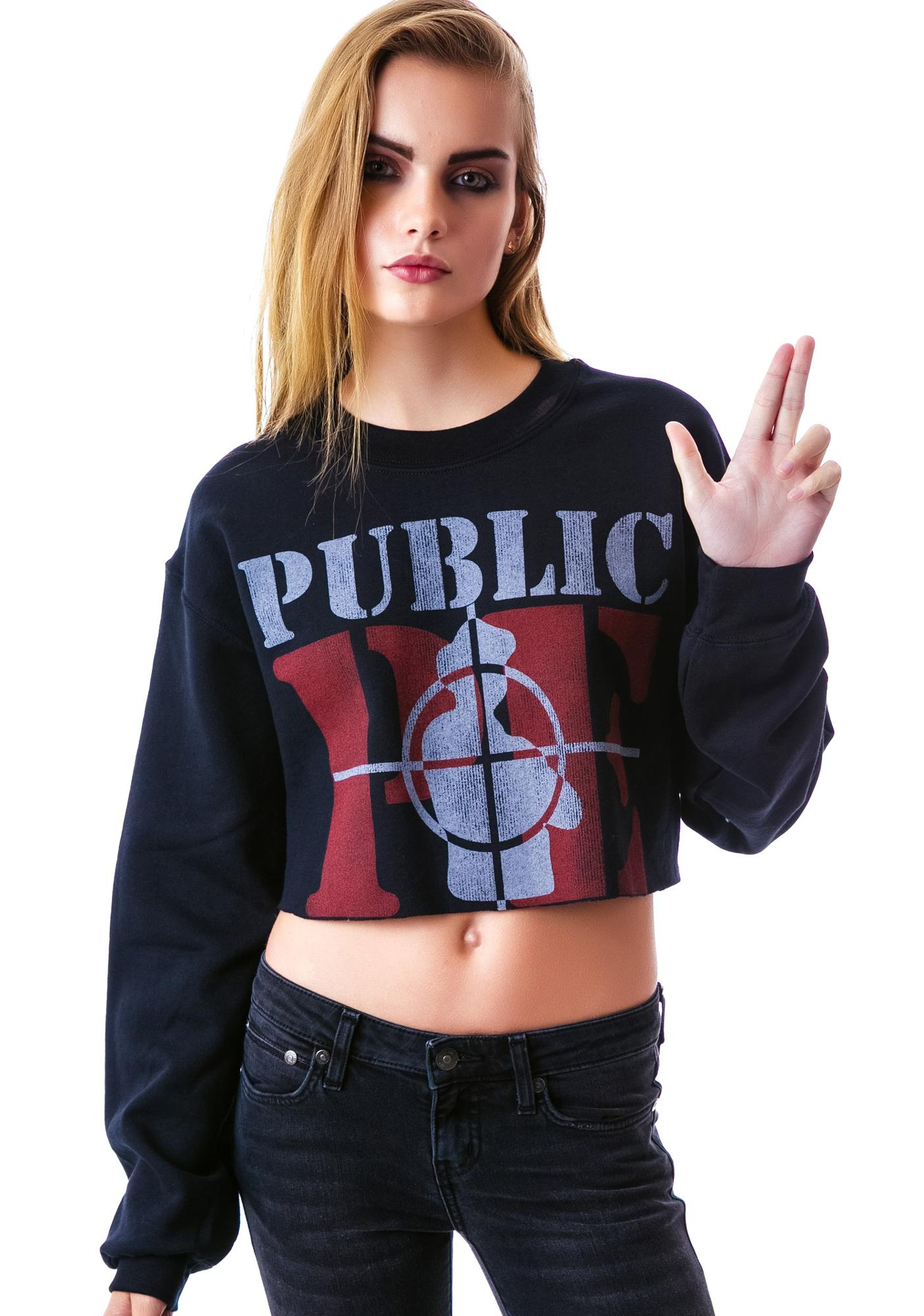 Public Enemy Cropped Sweatshirt