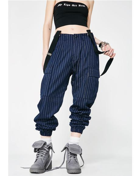 Too Bossy Suspender Cargo Pants