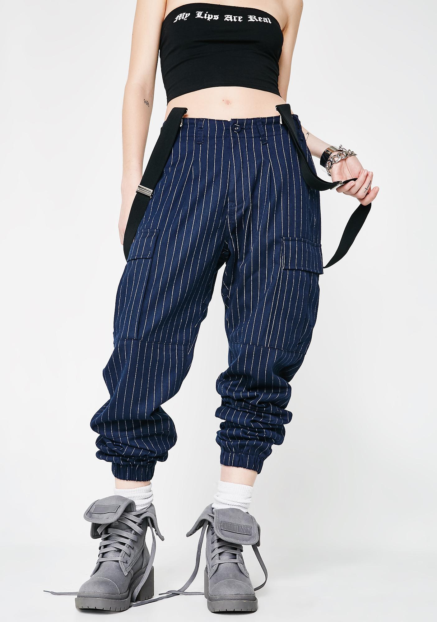Poster Grl Too Bossy Suspender Cargo Pants