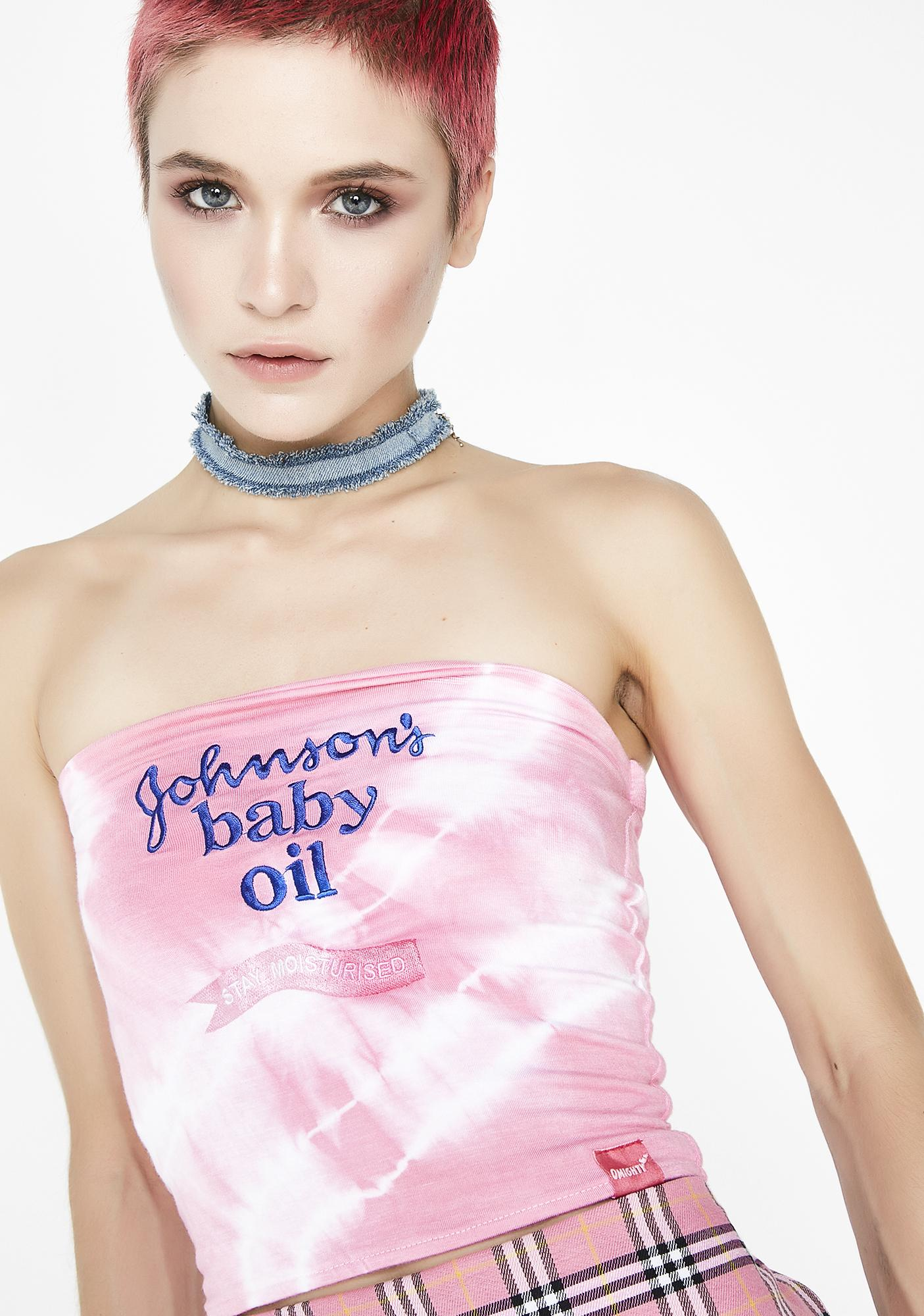 O Mighty Johnsons Baby Oil Boob Tube
