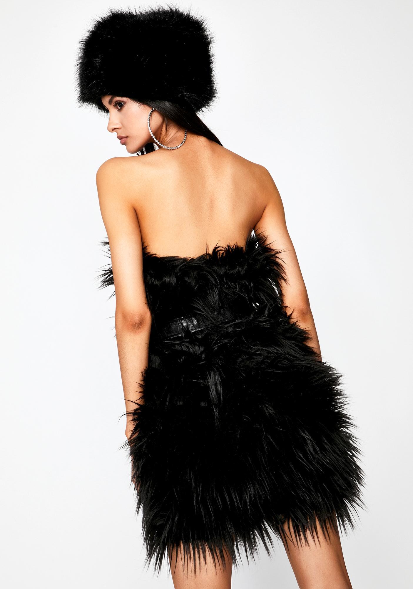 Wicked Freaky Elegant Fuzzy Dress
