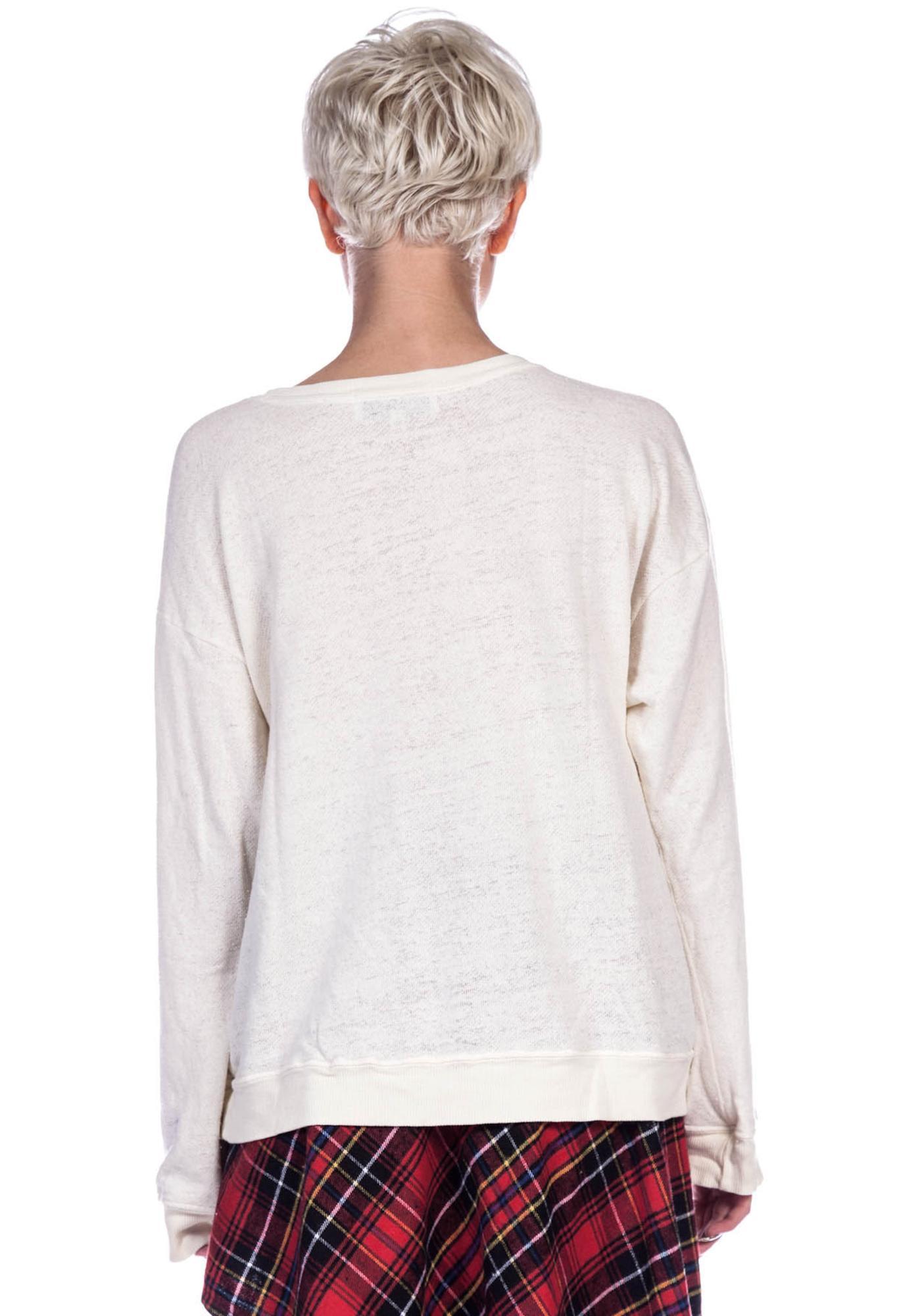 Wildfox Couture Famous Oversize Sweatshirt