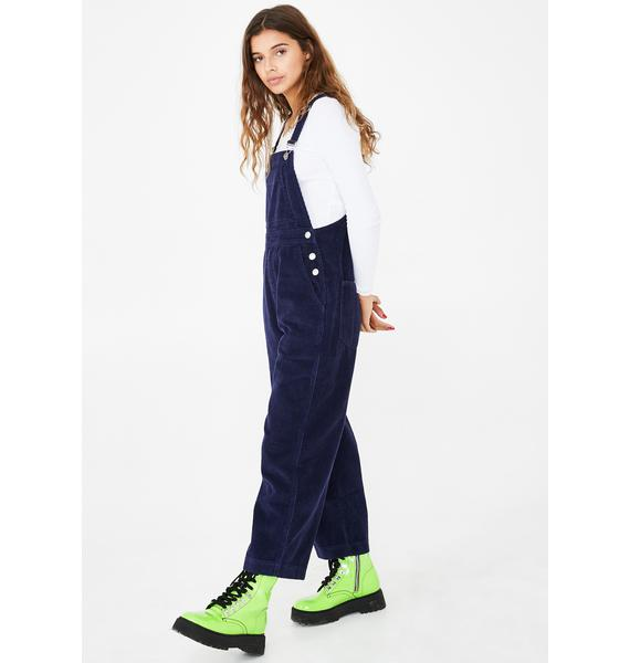 dELiA*s by Dolls Kill Lazy Dayz Corduroy Overalls