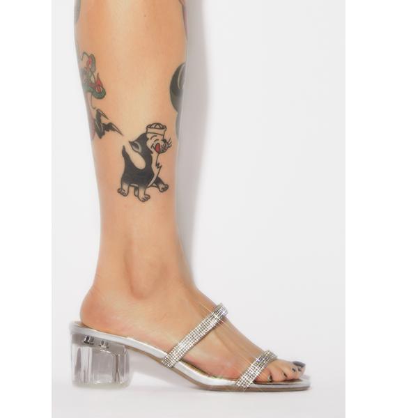 Drippin' Diamonds Clear Heels