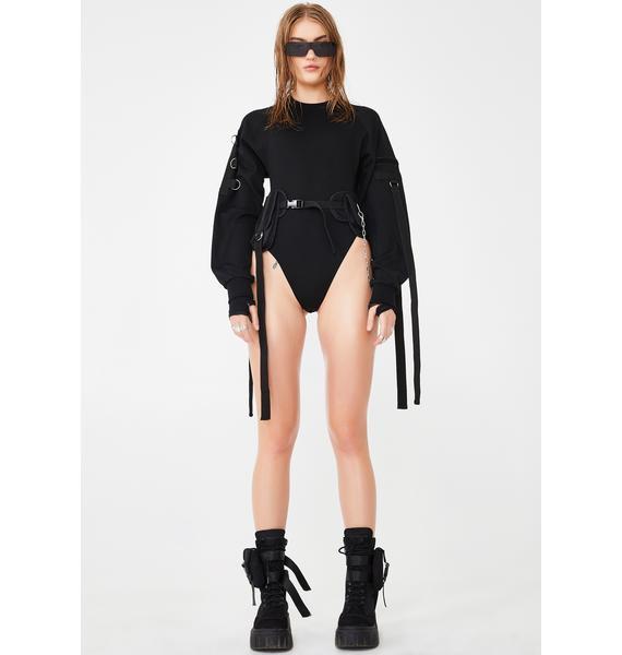 Namilia Tactical Belt Sweatshirt Bodysuit