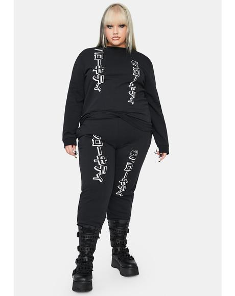Curve Hello Kitty Graphic Joggers