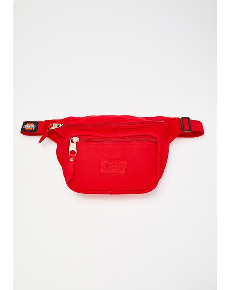 Red Canvas Hip Sack
