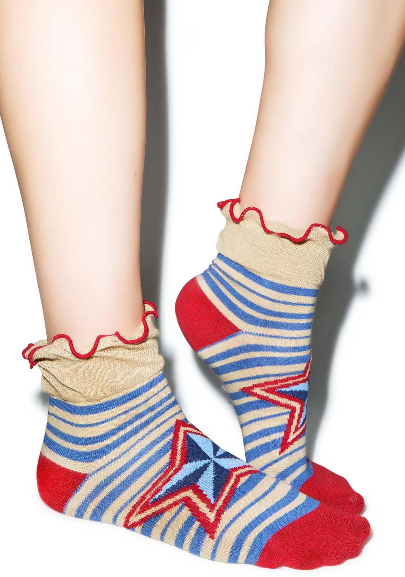 Starz N' Stripez Ankle Socks
