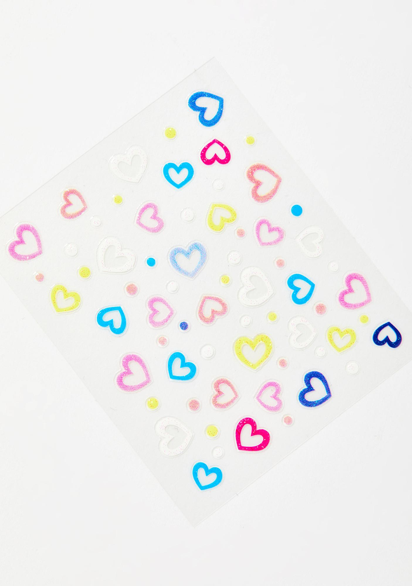 Luv's In The Air Face Stickers